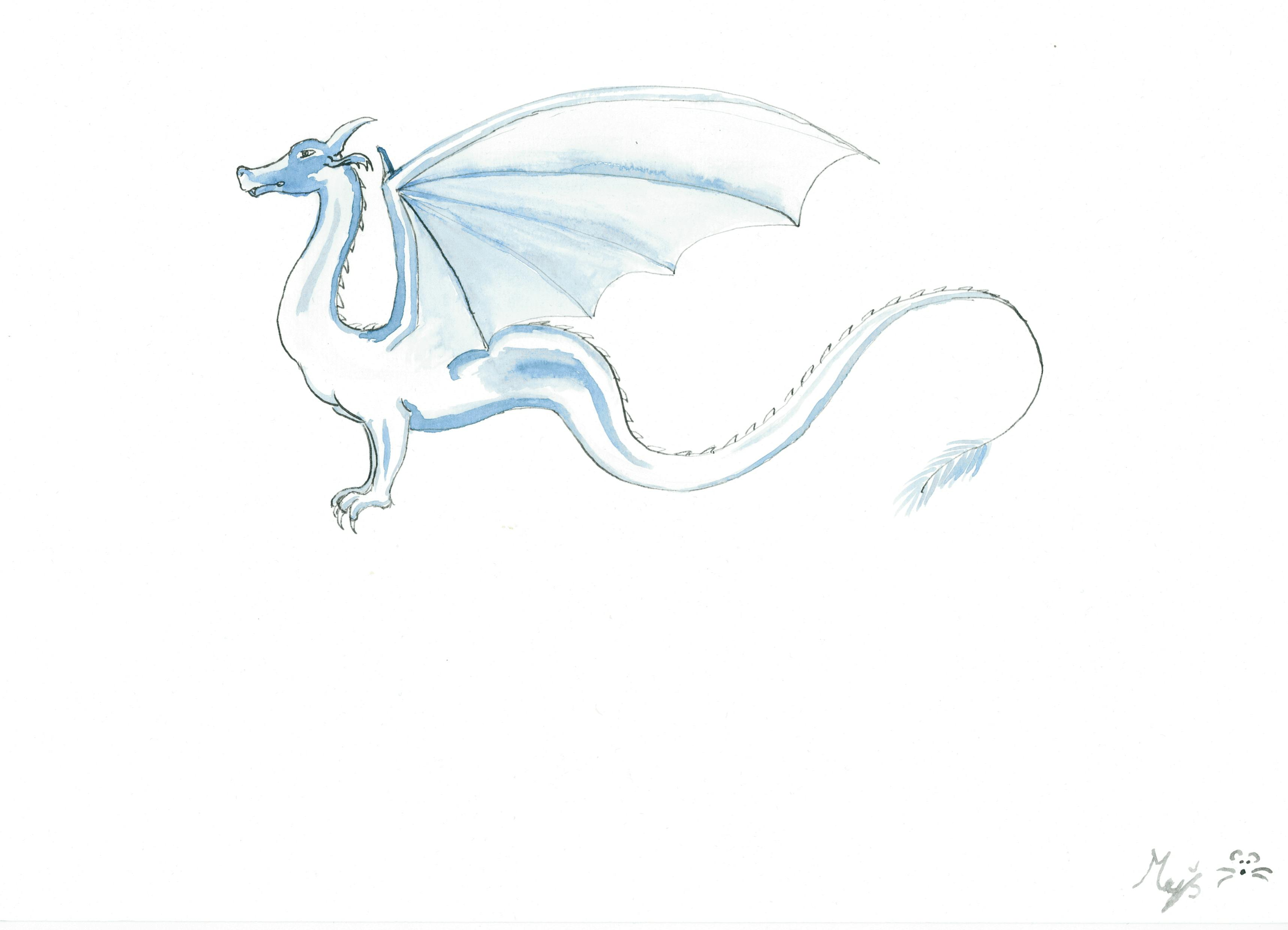 dragon from inkaquarelle